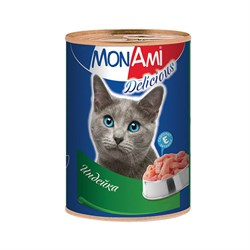 MonAmi - Консервы для кошек (с индейкой) - фото 8371