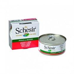 Schesir - Консервы для собак (филе цыплёнка с говядиной) - фото 8460