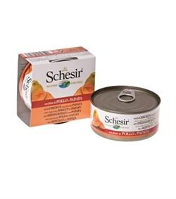 Schesir - Консервы для собак (цыплёнок с папайей) - фото 8501