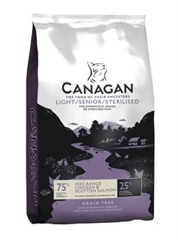 Canagan - Сухой корм для пожилых и стерилизованных кошек (с цыпленком и лососем) GF Light/Senior/Sterilised - фото 8515