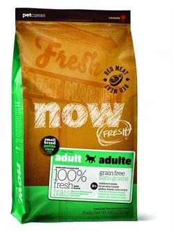 NOW Natural Holistic - Сухой корм беззерновой для взрослых собак малых пород (с ягненком, свининой и овощами) Fresh Small Breed Recipe Red Meat Grain Free - фото 8560