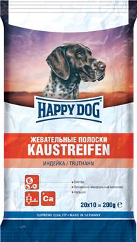 Happy Dog - Жевательные полоски для собак (с индейкой) Kaustreifen - фото 8582