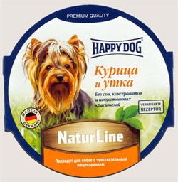 Happy Dog - Паштет для собак (с курицей и уткой) - фото 8619