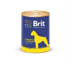 Brit - Консервы для собак (с говядиной и пшеном) Premium BEEF&MILLET - фото 8842