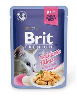 "Brit - Паучи для кошек ""Кусочки из куриного филе в желе"" JELLY Chiсken fillets - фото 8853"