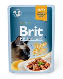 "Brit - Паучи для кошек ""Кусочки из филе тунца в соусе"" GRAVY Tuna fillets - фото 8859"