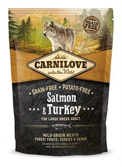 CarniLove - Сухой беззерновой корм для взрослых собак крупных пород Adult Large Breed Salmon & Turkey - фото 8871
