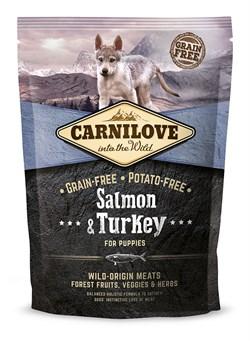 CarniLove - Сухой беззерновой корм для щенков всех пород (с лососем и индейкой) Puppy Salmon & Turkey - фото 8872