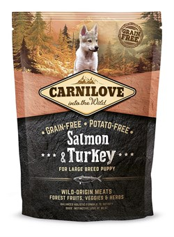 CarniLove - Сухой беззерновой корм для щенков крупных пород (лосось) Puppy Large Breed Salmon &Turkey - фото 8873