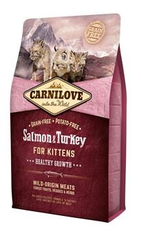 CarniLove - Сухой корм для котят (лосось и индейка) Salmon & Turkey for Kittens - фото 8878