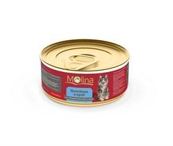 """Molina - Консервы для кошек """"Цыпленок с крабами в желе"""" - фото 8896"""