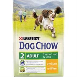 Purina Dog Chow - Сухой корм для взрослых собак старше 1 года (с курицей) - фото 8959