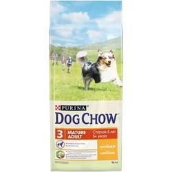 Purina Dog Chow - Сухой корм для взрослых собак старше 5 лет (с курицей) - фото 8962