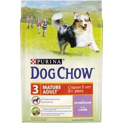 Purina Dog Chow - Сухой корм для взрослых собак старше 5 лет (с ягненком) - фото 8963