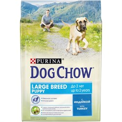 Purina Dog Chow - Сухой корм для щенков крупных пород до 2 лет (с индейкой) - фото 8967