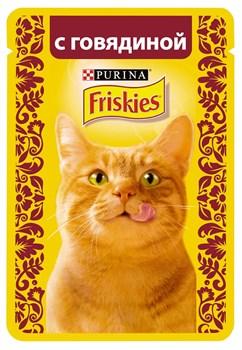 Purina Friskies - Влажный корм для кошек (с говядиной в подливе) - фото 8977