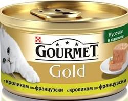 Purina Gourmet - Влажный корм для кошек (Кусочки в паштете из кролика по-французски) Gold Террин - фото 8994