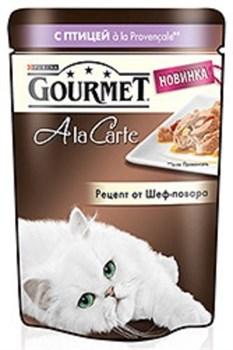 Purina Gourmet - Влажный корм для кошек (с домашней птицей a la Provencale, баклажаном, цукини и томатом) A la Carte - фото 9011