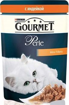 Purina Gourmet - Влажный корм для кошек (с индейкой) Perle - фото 9013