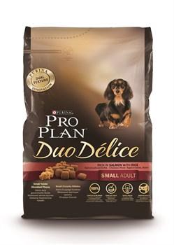 Purina Pro Plan - Сухой корм для взрослых собак мелких и карликовых пород (с лососем и рисом) DUO DELICE - фото 9076