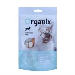 """Organix - Лакомство для собак """"Куриное филе на косточке с кальцием"""" (100% мясо) Chicken fillet/ calcium twisted - фото 9300"""