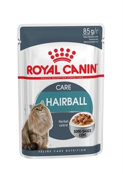 Royal Canin - Паучи для взрослых кошек (мелкие кусочки в соусе) HAIRBALL CARE - фото 9537