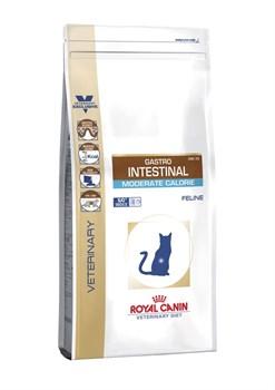 """Royal Canin (вет. диета) - Сухой корм для кошек """"Контроль веса"""" при нарушении пищеварения GASTRO INTESTINAL MODERATE CALORIE GIM35 - фото 9600"""