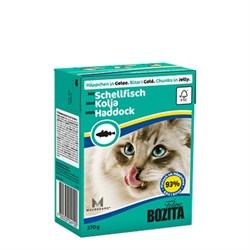 BOZITA - Консервы для кошек (кусочки в желе с морской рыбой) Tetra Pak Feline Haddock - фото 9712