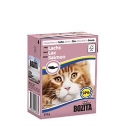 BOZITA - Консервы для кошек (кусочки в соусе с лососем) Feline Salmon Tetra Pak - фото 9718
