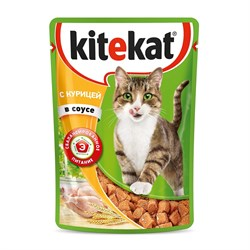 Kitekat - Паучи для кошек (с курицей в соусе) - фото 9784