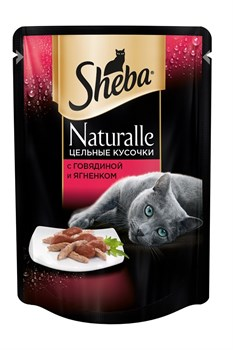 Sheba - Паучи для кошек (с говядиной и ягненком) Naturalle - фото 9858
