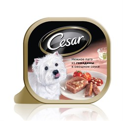 Cesar - Консервы для собак (Нежное патэ с говядиной и овощами) - фото 9951