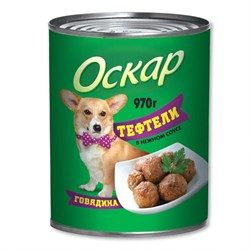 """Оскар - Консервы для собак """"Тефтели"""" (говядина в нежном соусе) - фото 9996"""