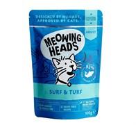"""Barking Heads - Паучи для кошек и котят """"Все лучшее сразу"""" (с сардинами, тунцом, курицей и говядиной) Surf & Turf"""