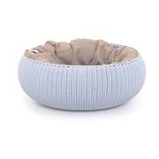 """Curver PetLife - Лежак для животных """"Вязаный комфорт"""" с подушкой, 54*20,2 см, дымчато-голубой"""
