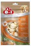 8in1 - Косточки с куриным мясом для мелких и средних собак 11смх6 шт. DELIGHTS S (пакет)