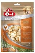 8in1 - Косточки с куриным мясом для мелких собак 7,5 смх21 шт. DELIGHTS XS (пакет)