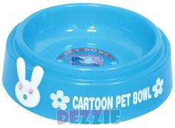 """Dezzie - Миска для кошек """"Друзья"""", 225 мл, 15 см, пластик (цвет в ассортименте)"""