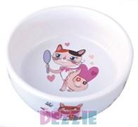 Dezzie - Миска для кошек, 150 мл, 300мл, 12,5*4,5 см, керамика