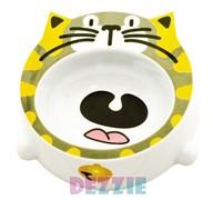 Dezzie - Миска для кошек, 200 мл, 16*16*4,5 см, пластик