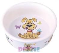 """Dezzie - Миска для собак """"Желание"""", 300 мл,12,5*4,5 см керамика"""