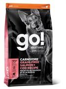 GO! Natural Holistic - Беззерновой для собак всех возрастов (c лососем и треской) CARNIVORE GF Salmon + Cod Recipe DF