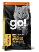GO! Natural Holistic - Сухой корм беззерновой для котят и кошек с чувствительным пищеварением (со свежей уткой) Sensitivity + Shine Grain Free Duck Cat Recipe