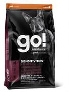 GO! Natural Holistic - Сухой корм беззерновой для щенков и собак для чувствительного пищеварения (с ягненком) Sensitivity + Shine LID Lamb Dog Recipe, Grain Free, Potato Free