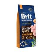 Brit - Сухой корм для пожилых собак средних пород Premium Senior M