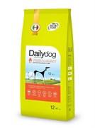 Dailydog - Сухой корм для взрослых собак средних и крупных пород (с индейкой и ячменем) Adult Medium Large Breed Turkey and Barley
