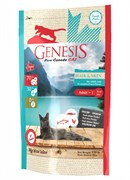 Genesis Pure Canada - Сухой корм для взрослых кошек для кожи и шерсти (с лососем, форелью и курицей) My Blue lake