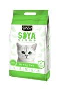 Kit Cat - Наполнитель комкующийся соевый биоразлагаемый (зеленый чай) SoyaClump Soybean Litter Green Tea