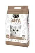 Kit Cat - Наполнитель комкующийся соевый биоразлагаемый (кофе) SoyaClump Soybean Litter Coffee