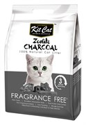 Kit Cat - Наполнитель комкующийся цеолитовый для кошек (без запаха) Zeolite Charcoal Frangrance Free